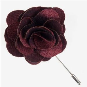 Burgundy Astute Solid Lapel Flower Pin